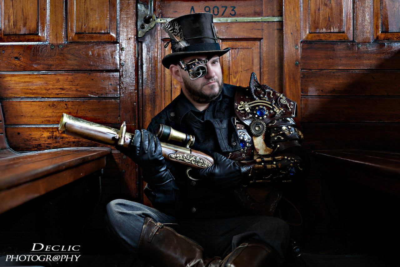Steampunk Top Hat tramway