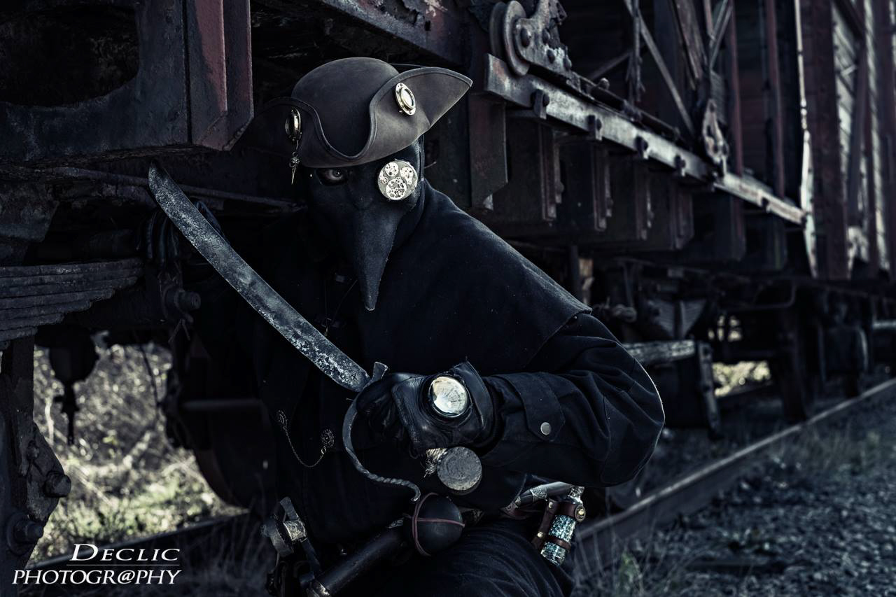 Face Mask Steampunk with Train