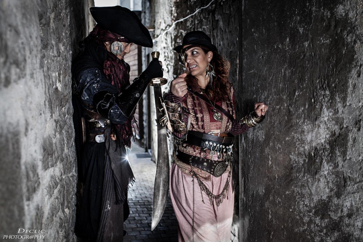 Steampunk duo pirate photo