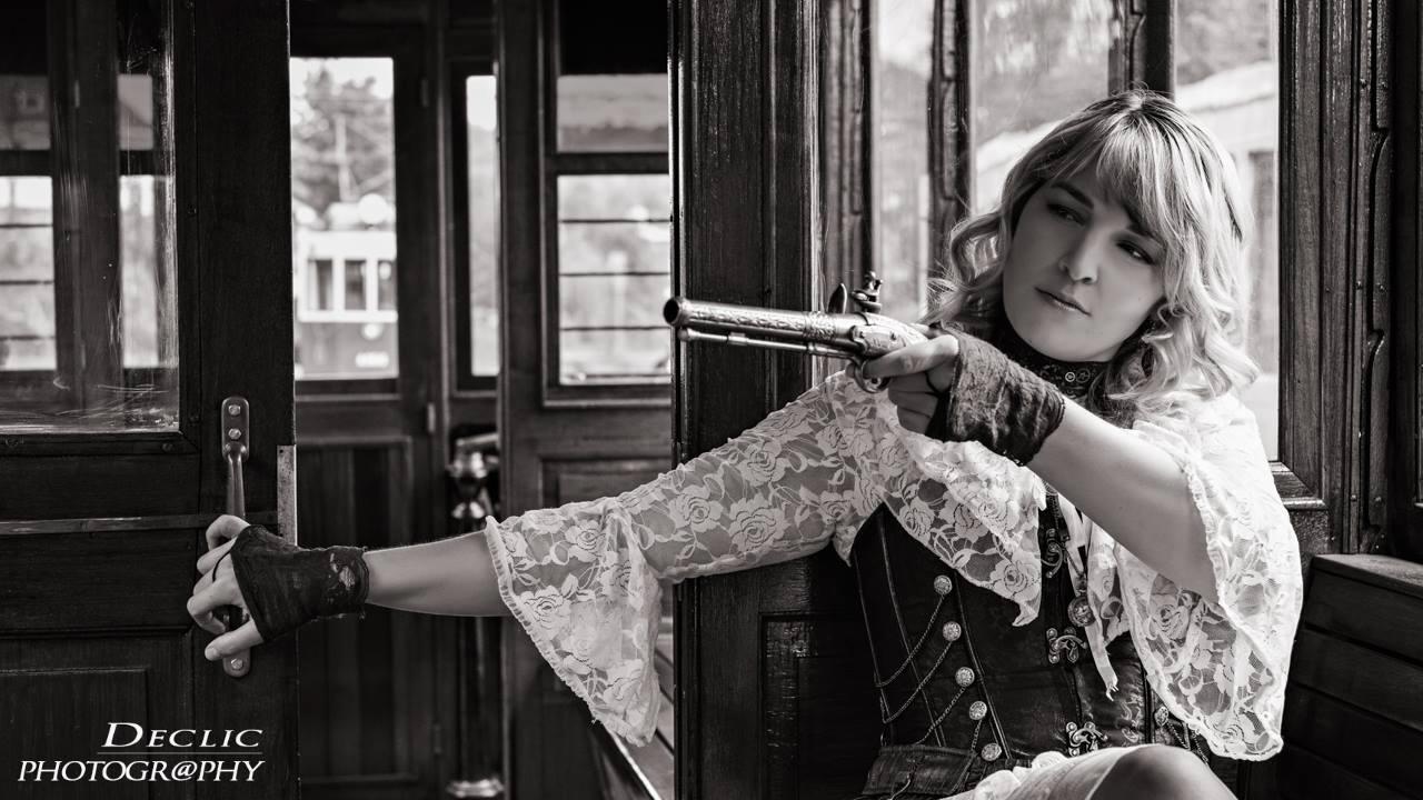 Steampunk Lady train