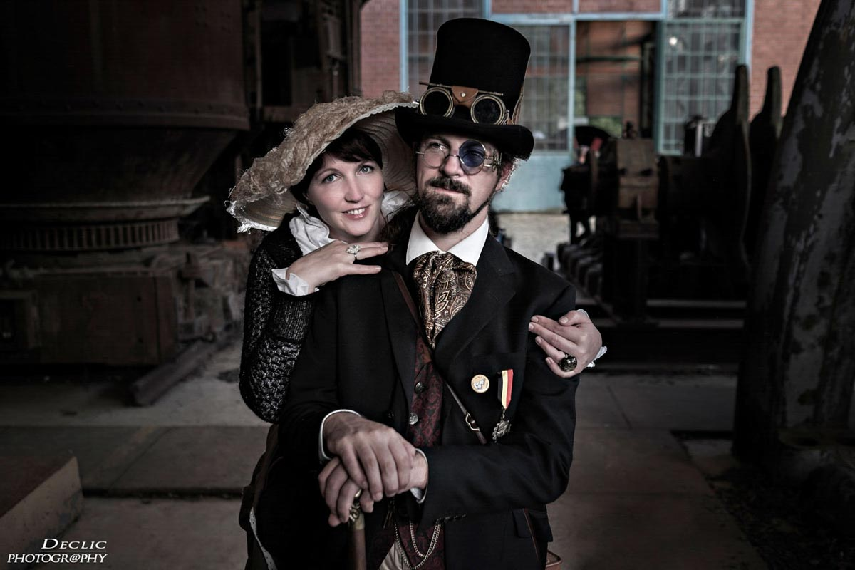 Steampunk Couple Top Hat