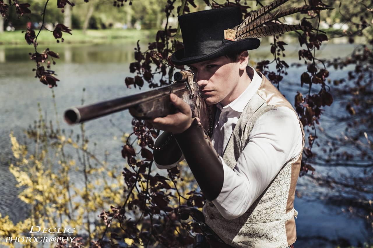 portrait steampunk gun