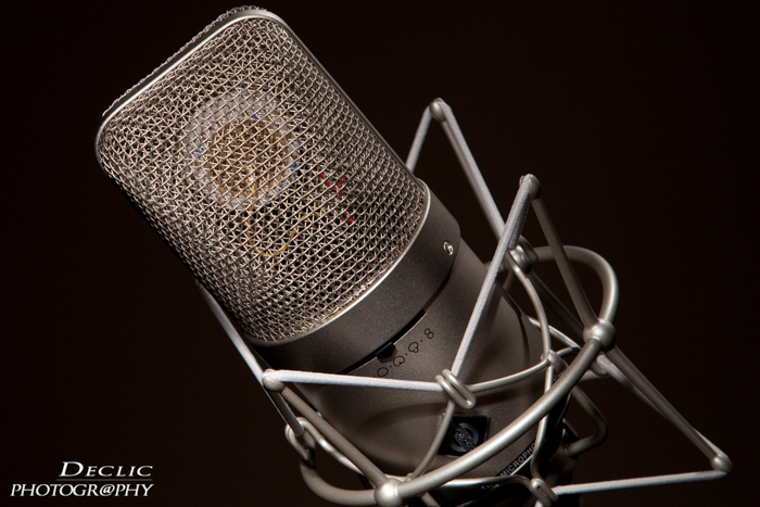The sound engineer microphone recording
