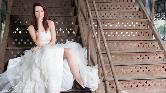 weddingdress trap photoshoot