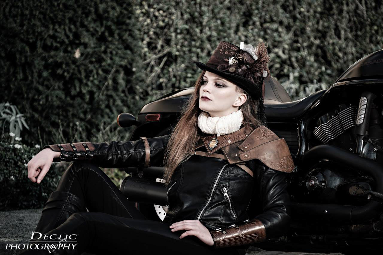 Steampunk Girl Biker