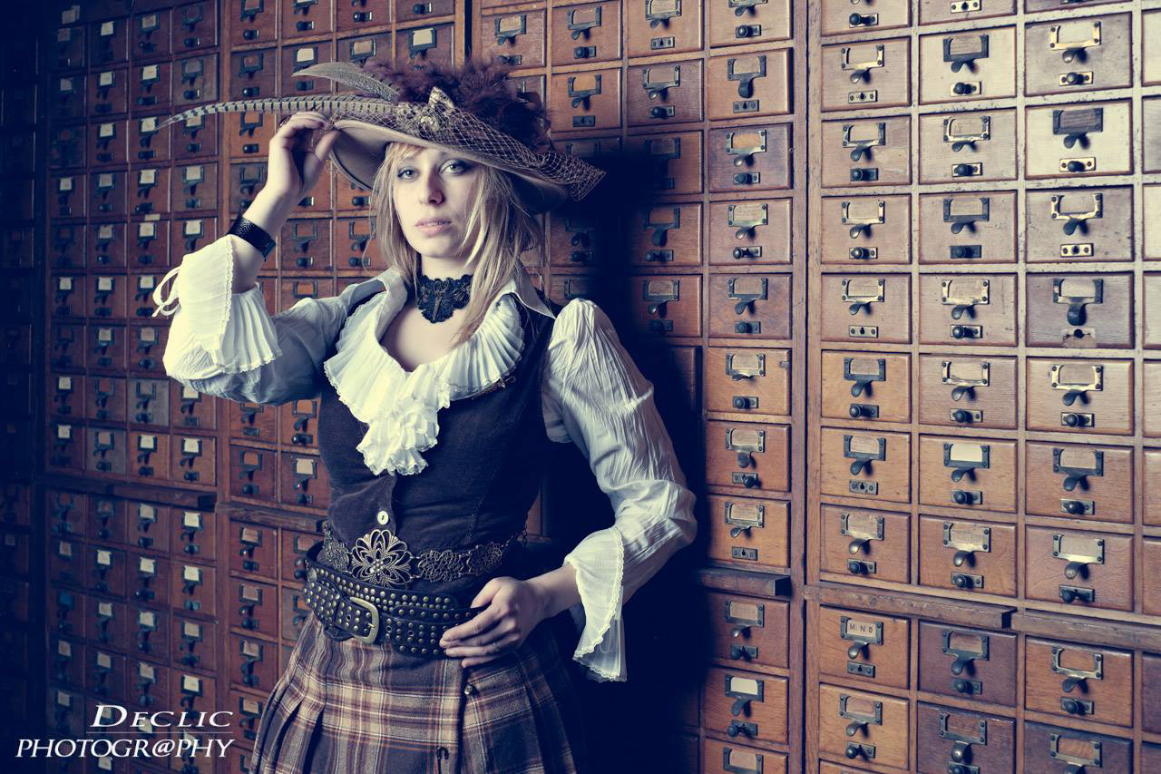 Steampunk Girl Chapelière