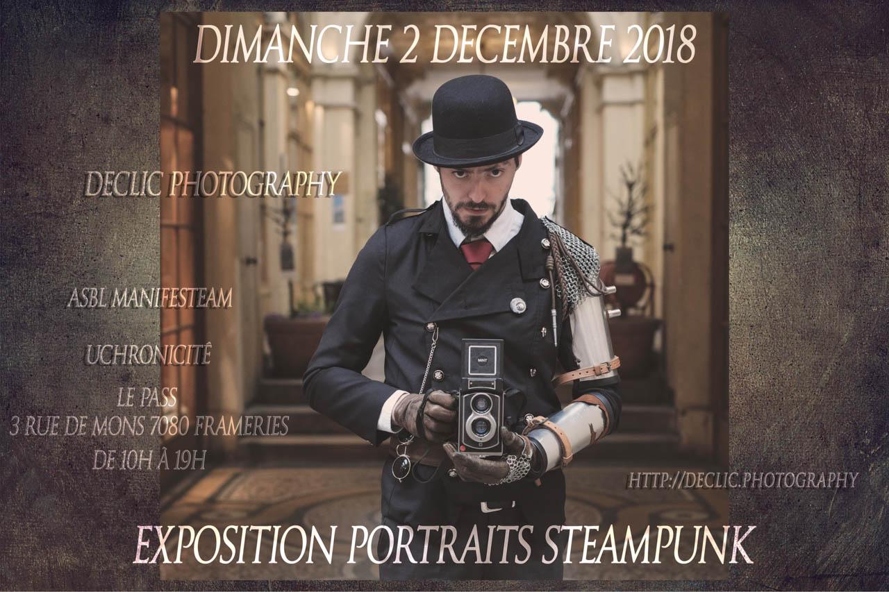 affiche exposition steampunk