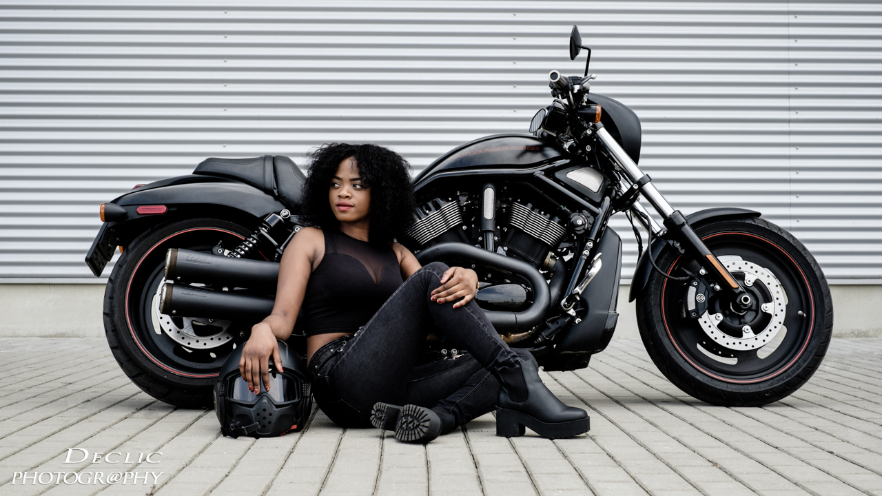 Portrait Harley Davidson Biker